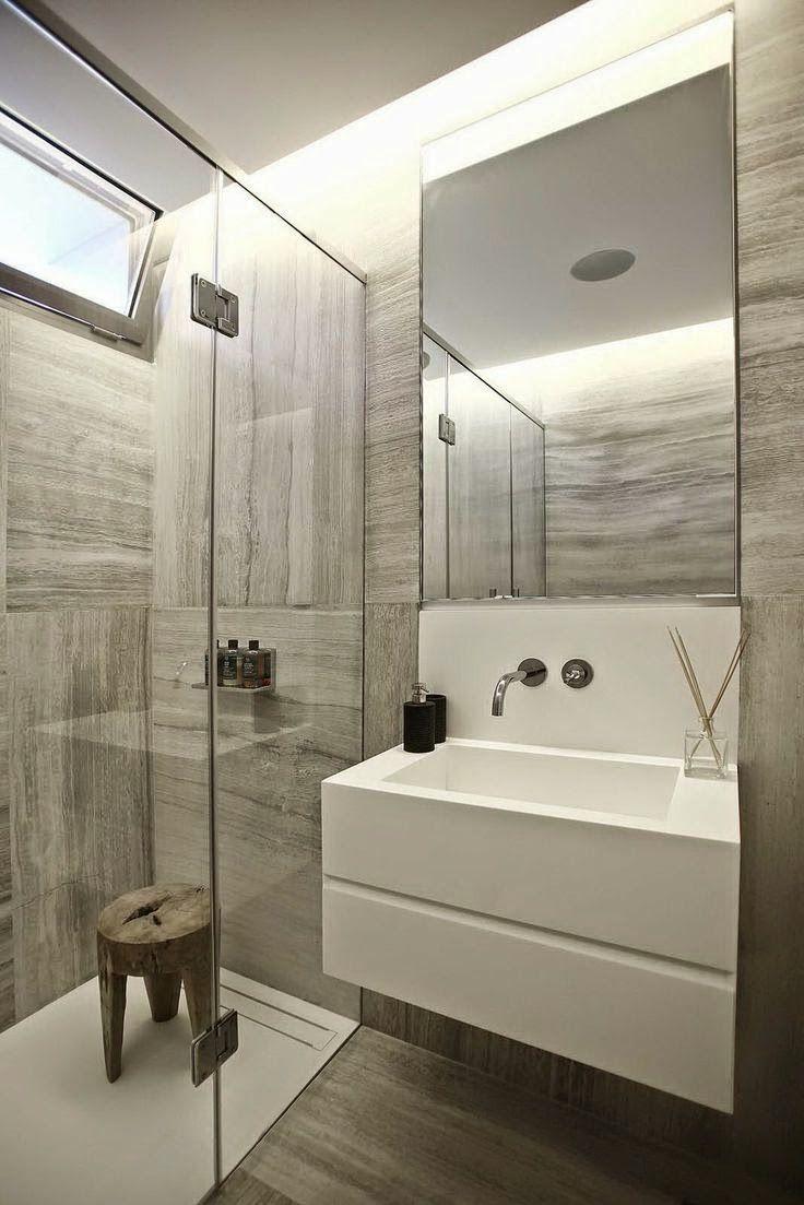 De 73 ideas de decoraci n para ba os modernos peque os - Banos con estilo moderno ...