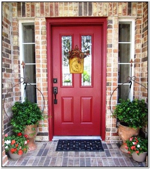 Best Color For Front Door On Brick House