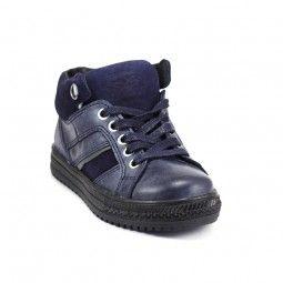 Sneakers en cuir à lacets munies d'un zip latéral 8014 de la marque Acebos