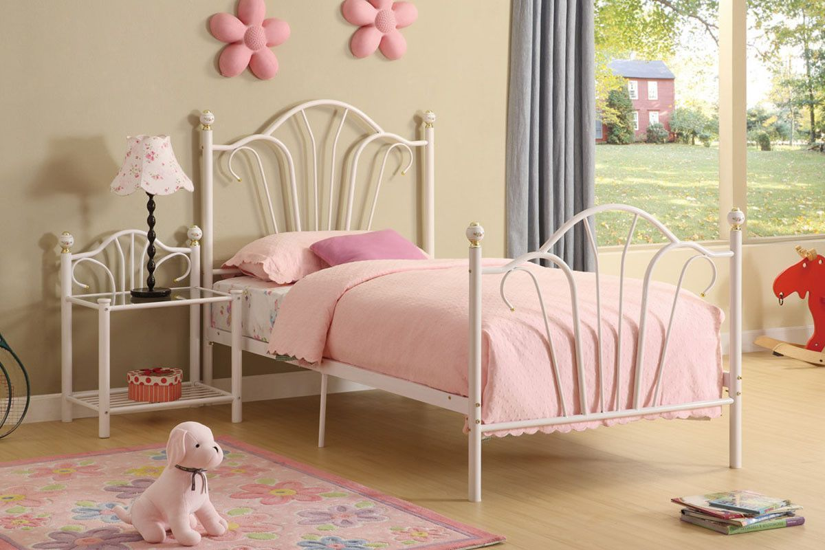 Princess Twin Bed White Metal Bed Bed Frame Toddler Bed Frame