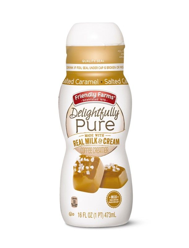 Friendly Farms Delightfully Pure Coffee Creamers Aldi Exclusive
