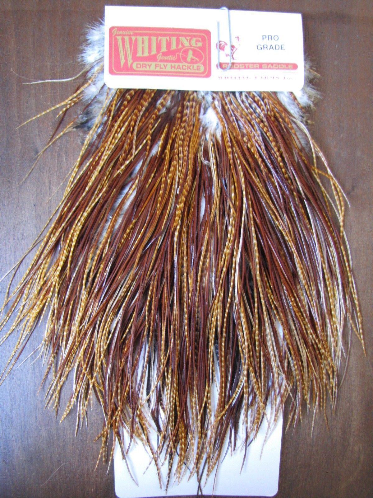 Fly Tying Whiting Gold Rooster Saddle White #A Angelsport-Köder, -Futtermittel & -Fliegen Angelsport-Artikel