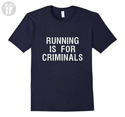 Mens Running Is For Criminals Funny Saying T Shirt XL Navy - Funny shirts (*Amazon Partner-Link)