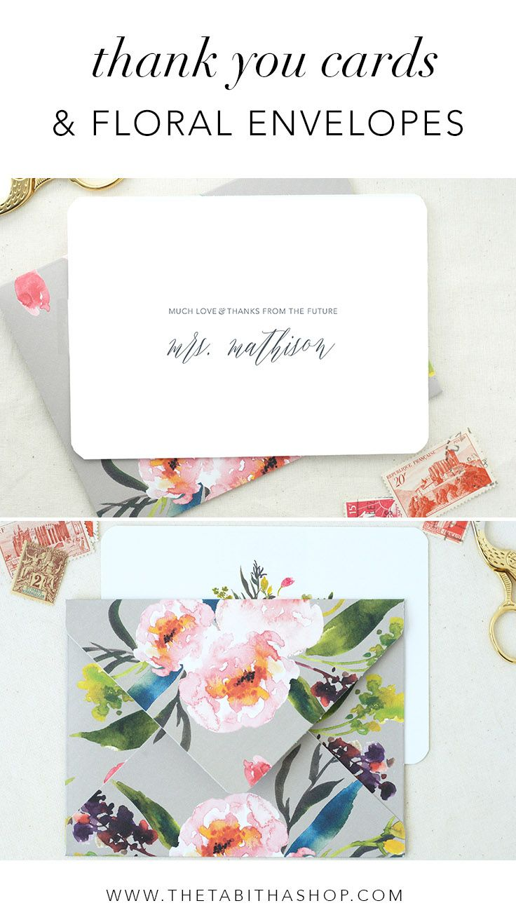 don't forget to say thank you after your wedding shower