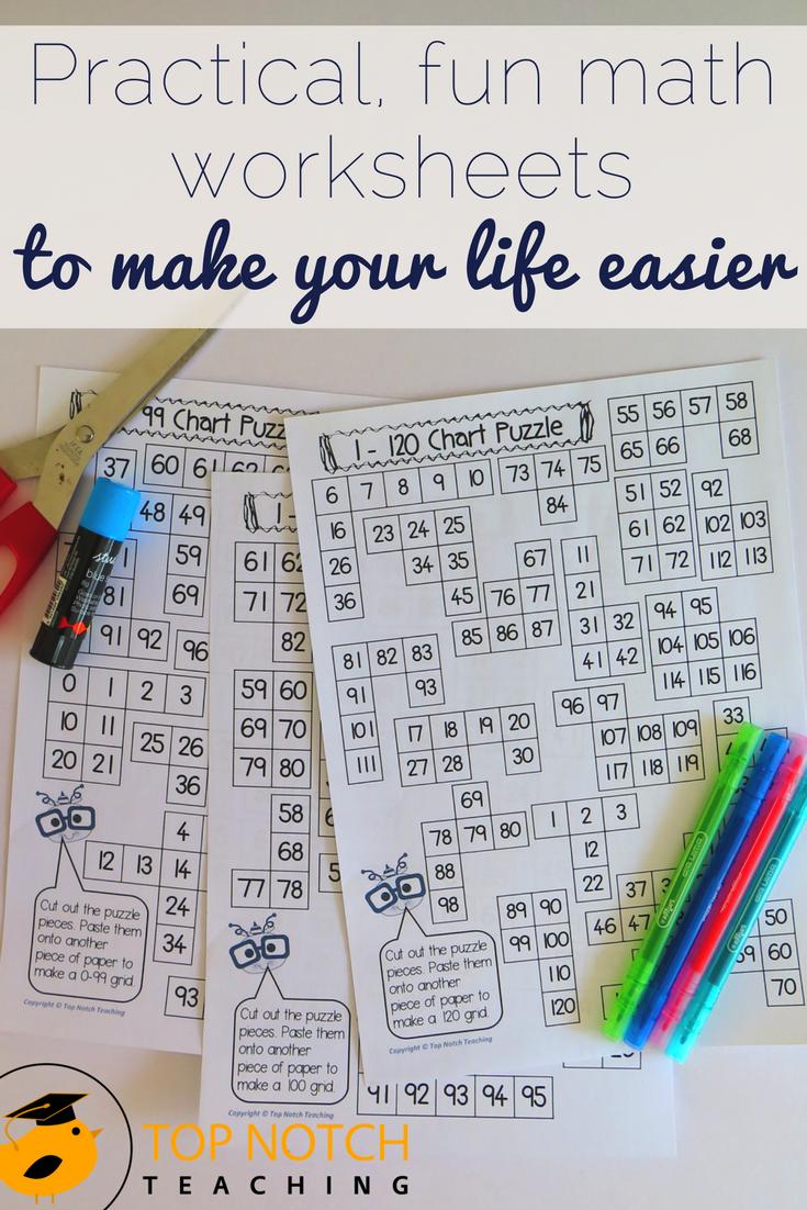 Practical, Fun Math Worksheets To Make Your Life Easier | Fun math ...