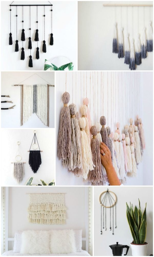 20 Easy DIY Yarn Art Wall Hanging