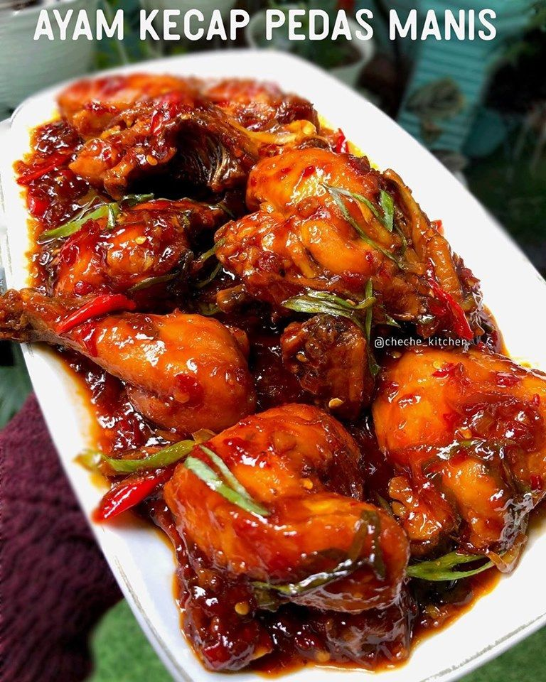 Resep Ayam Kecap Pedas : resep, kecap, pedas, Resep, Kecap, Pedas, Manis, Ayam,, Masakan,, Sayap