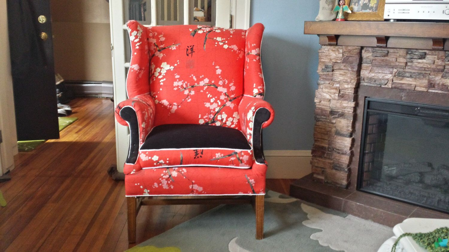 Vintage Reupholstered Clayton Marcus Wing Chair (SOLD) By RevampedNRemixed  On Etsy Https:/
