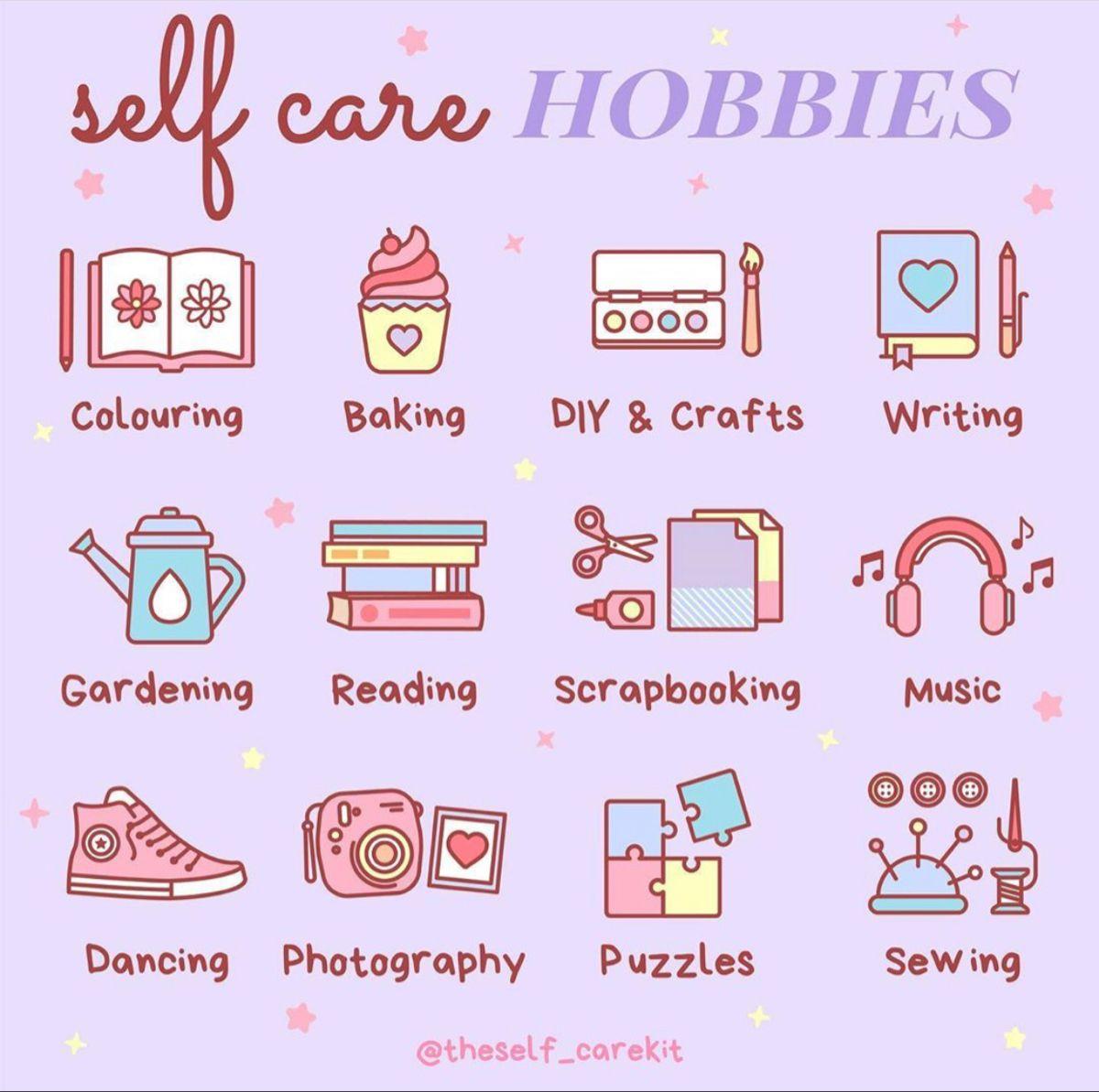 Self Care Hobby Ideas