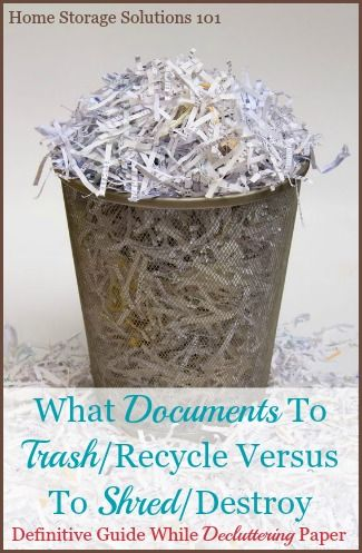 trash versus shred documents which to choose when paper clutter