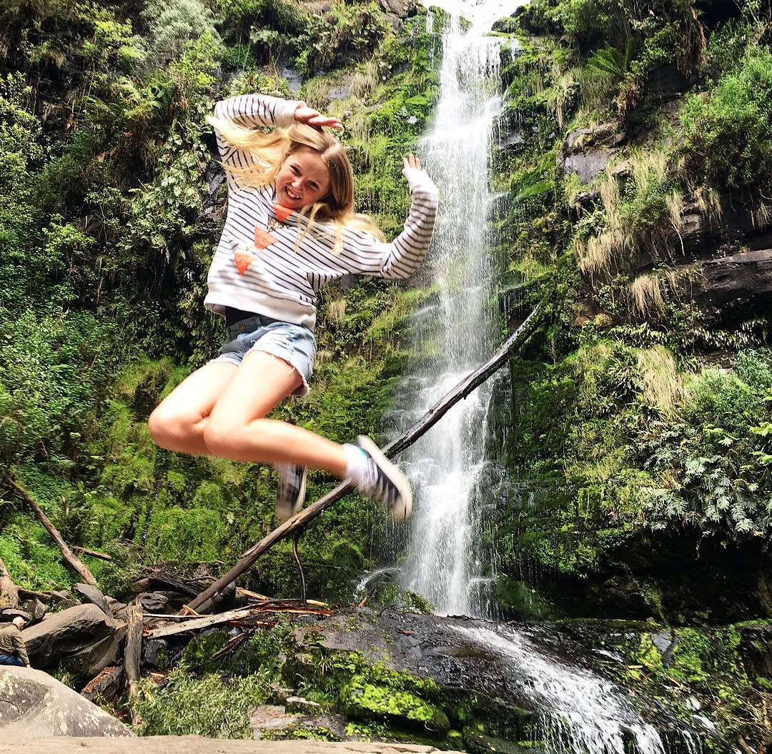 Erskine falls. #Lorne #longweekend #erskinefalls  #cottononfree #cottonon #tween #tweenfashion #tweenmodel #blonde #freckles #actionshot #jumpshot by elwood_schilling_official http://ift.tt/1IIGiLS