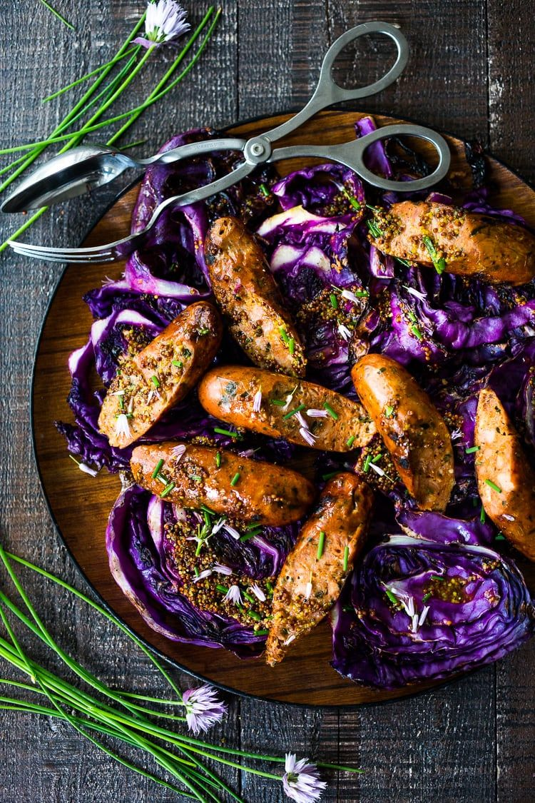 Grilled Cabbage with Andouille Sausage (vegan adaptable) images