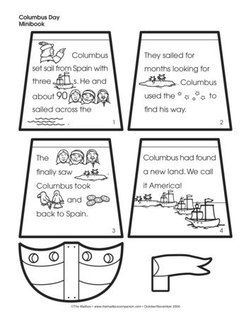 Columbus Day Minibook Lesson Plans The Mailbox Mini Books Christopher Columbus Activities Kindergarten Social Studies
