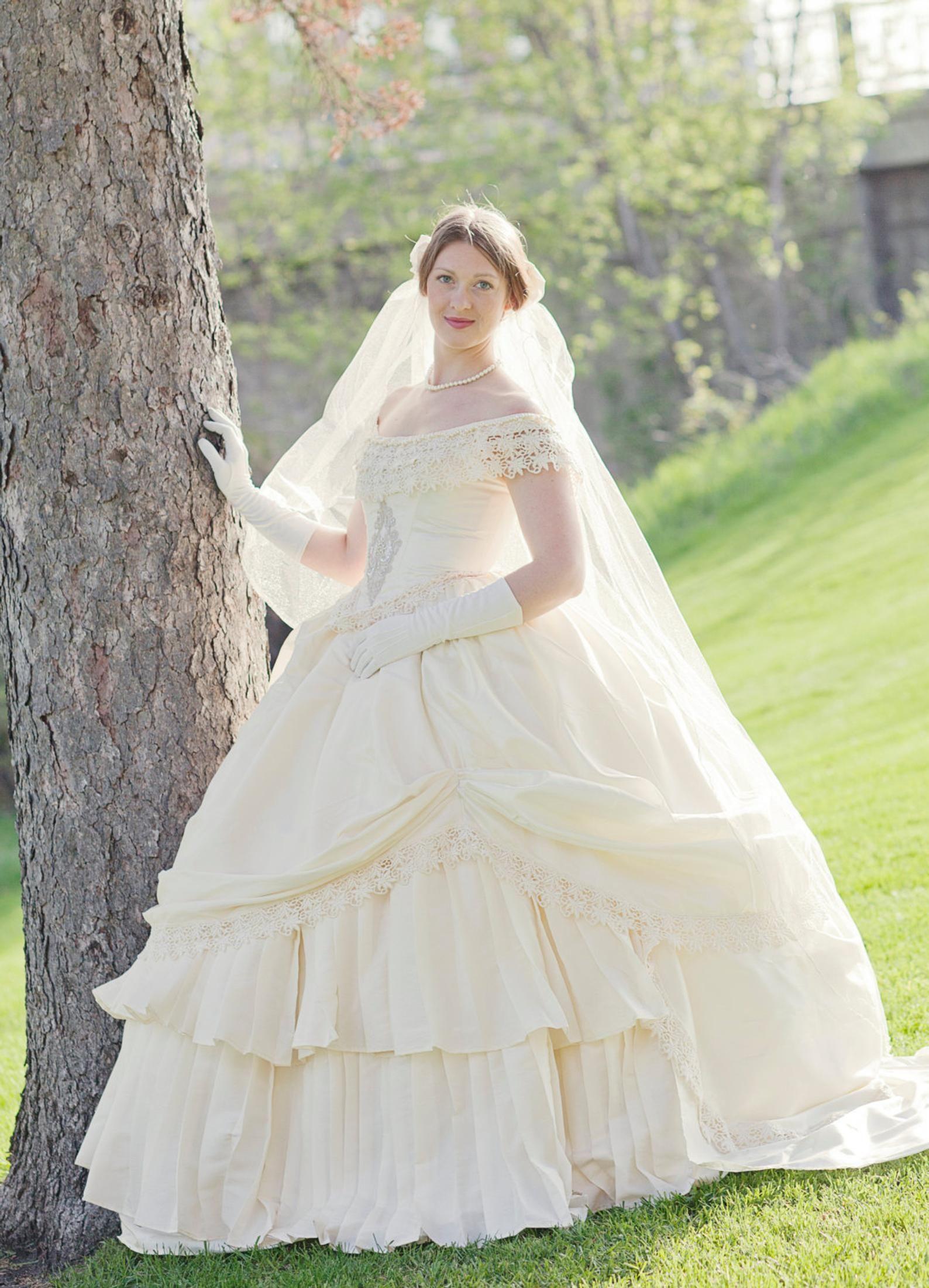 Bridal Wedding Victorian Civil War Steampunk Gown Dress