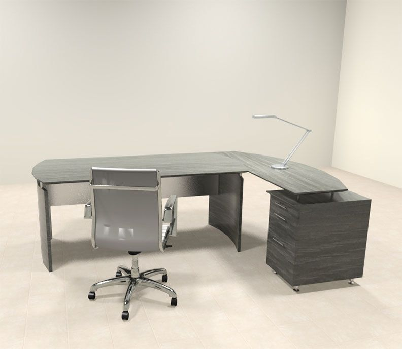 2pc Modern Contemporary L Shaped Executive Office Desk Set, #MT ...