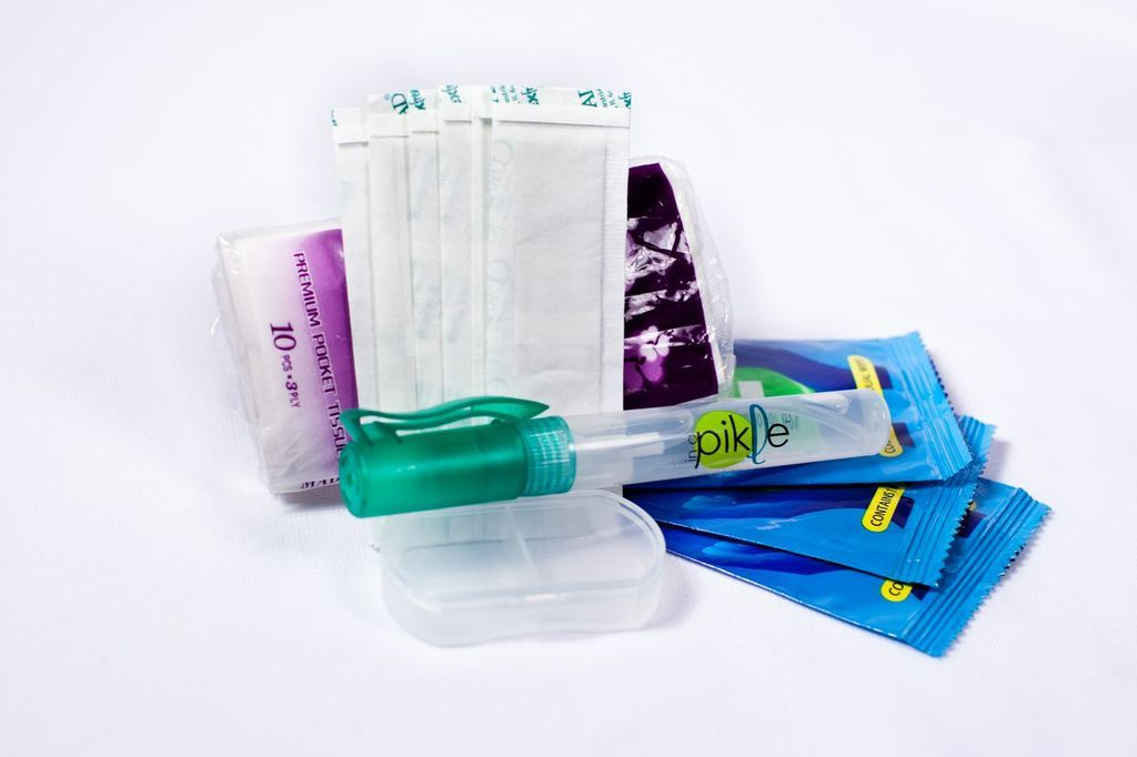 Necessities Pak Hand Sanitizer Pill Boxes Adhesive