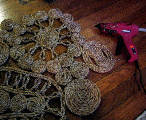 diy project sisal rope art  rope art fabric crafts
