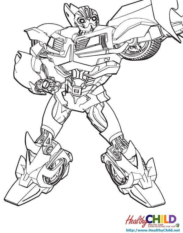 transformers car mode bumblebee free coloring pages
