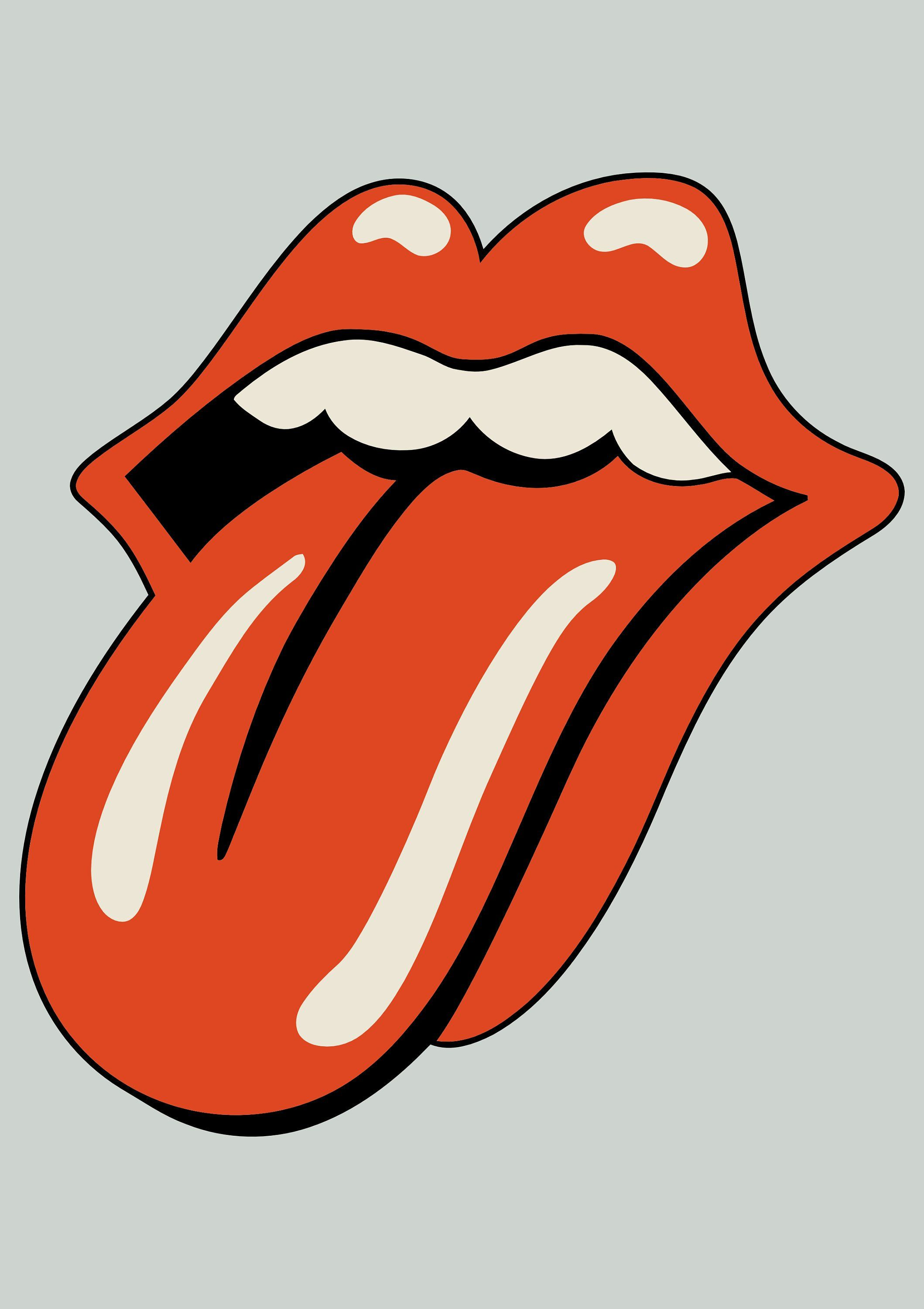 The Rolling Stones Vintage Poster Tongue Print Home Decor