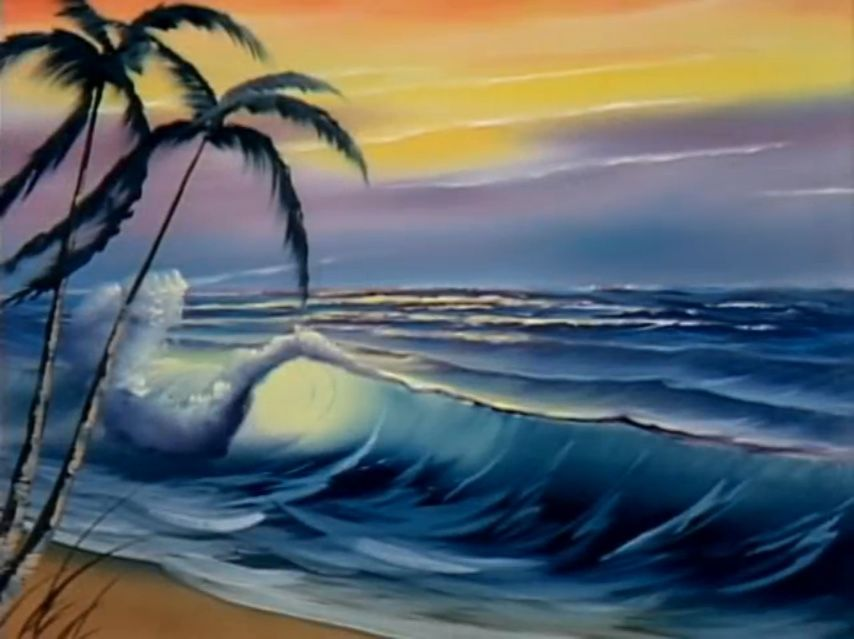 Bob Ross Tropical Beach With Images