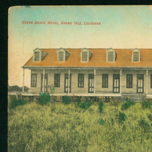 1909 Ocean Beach Hotel Grand Isle Louisiana Lsu Libraries Postcard Collections Historical Vintage Pinterest