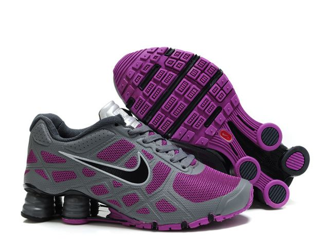 Nike Shox R6 Womens Charcoal Gray Purple Shoes  40.99