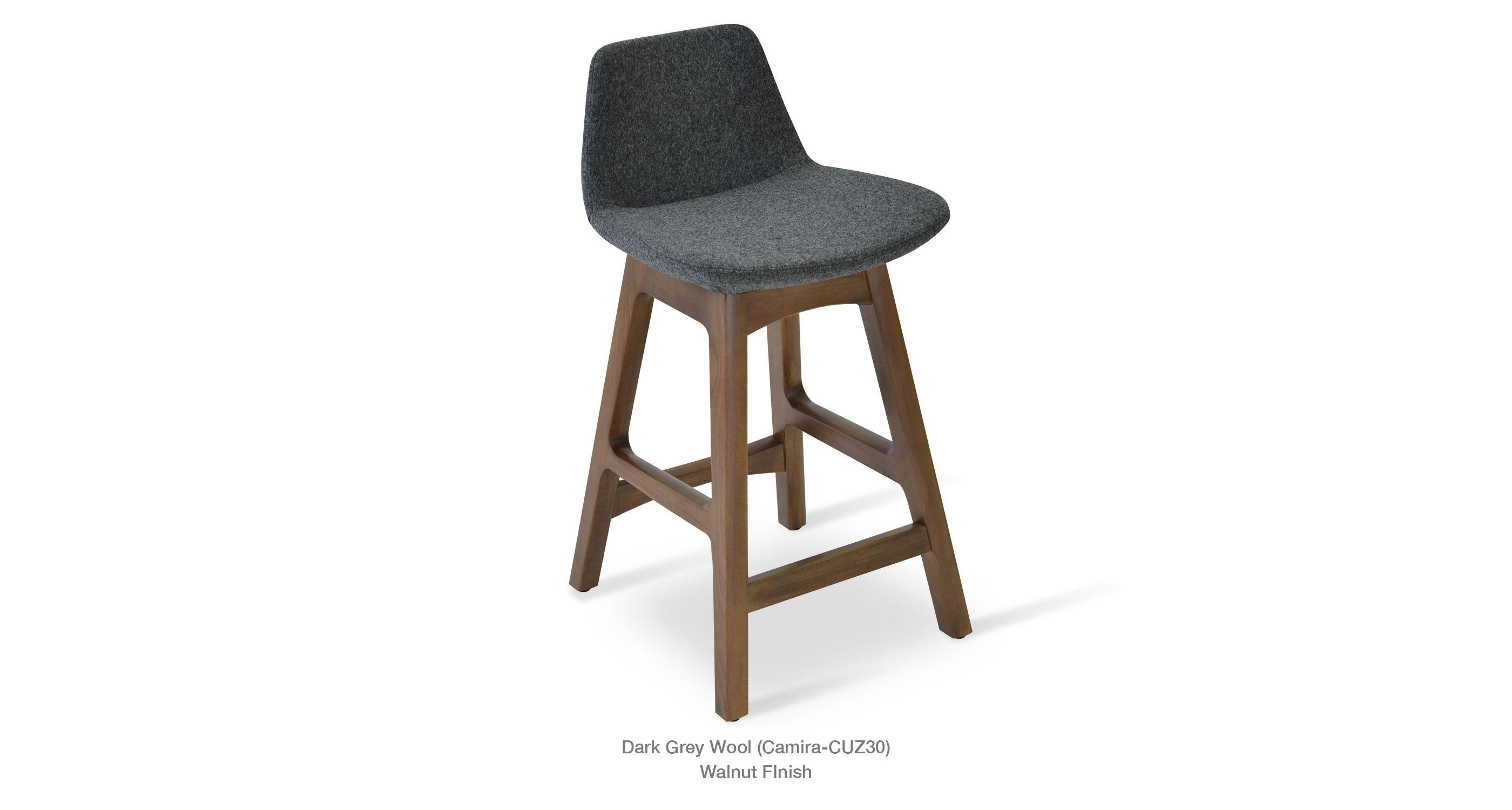 Phenomenal Pera Wood Dark Grey Furnishings Counter Bar Stools Bar Inzonedesignstudio Interior Chair Design Inzonedesignstudiocom
