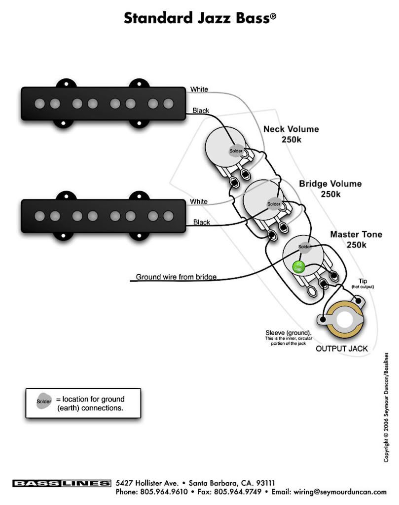 Squier Jazz Bass Wiring Diagram from i.pinimg.com