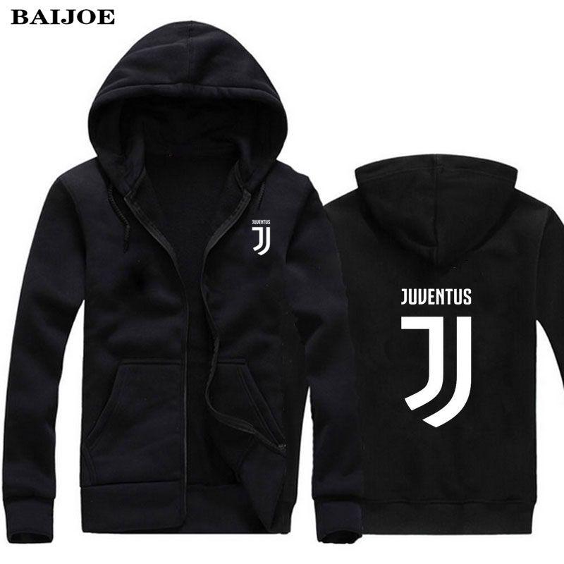 2017 Homme/femmes Juventus imprimer Sportswear Hoodies mâle Hip Hop Polaire À  Manches Longues À