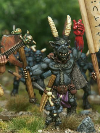 Jolly Beastman Shaman scampers about in a sinister but sprightly manner.       Over 20,000 models!