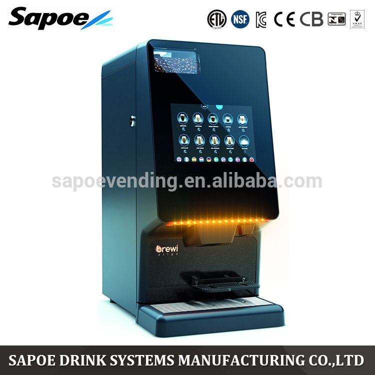 Sapoe Automatic Dynamic Touch Screen Bean To Cup Coffee