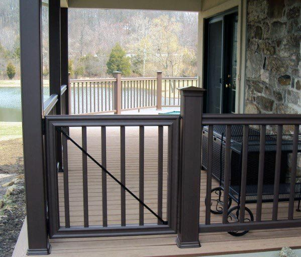 Top best deck gate ideas backyard designs also outside rh pinterest