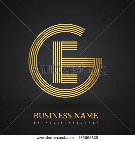 Letter EG or GE linked logo design circle G shape Elegant gold - new zulu formal letter format