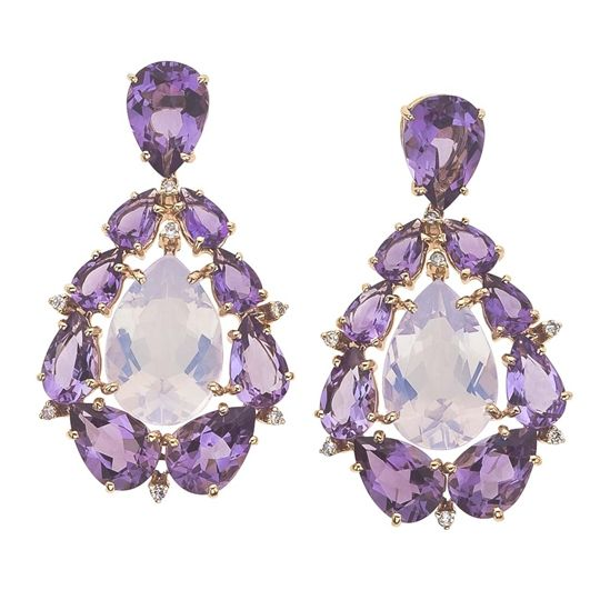 Vianna 18K Rose Gold Amethyst Earrings from the Madame Collection