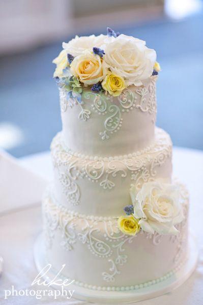 Paisley Piping Royal Icing Piping Ivory White Wedding Fondant