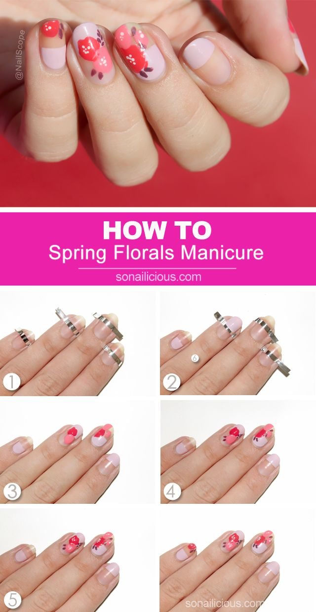 Tutorial Edgy Spring Florals Spring Nails Tutorials And Spring