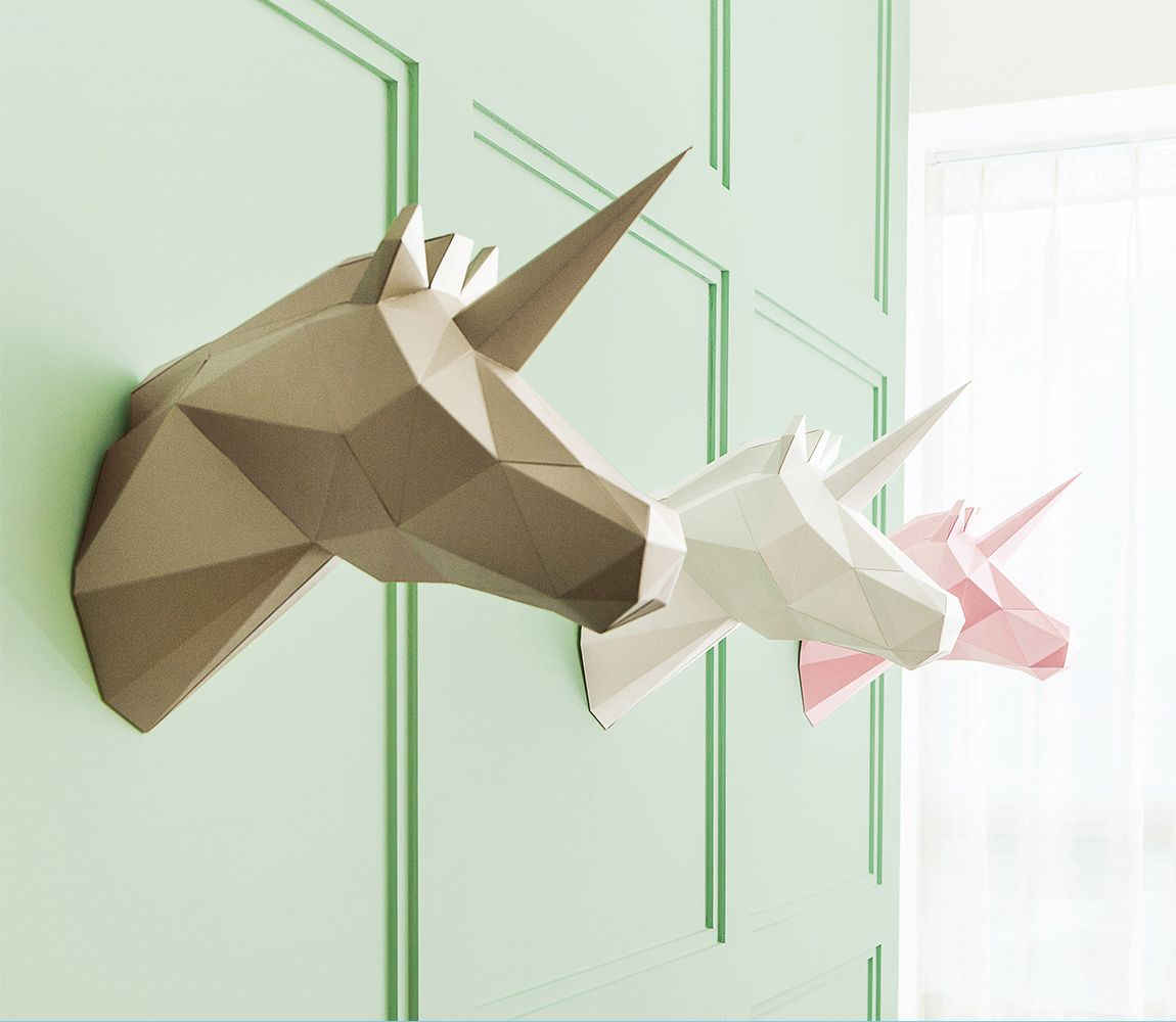 Product design diy paper polygon art by viu craft for Polygon produktdesign