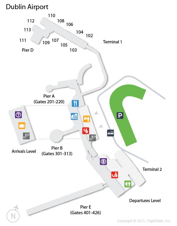 Dublin Airport Map DUB) Dublin Airport Terminal Map | airports | Dublin airport
