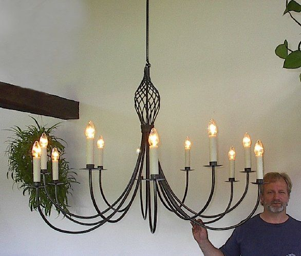 Ace iron in thorndike maine clayton bryant blacksmith we have ace wrought iron large custom theatre chandelier hand forged by clayton j bryant aloadofball Image collections
