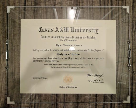 Glass Diploma Frame 20x16 | Sam\'s Office | Pinterest | Glass ...