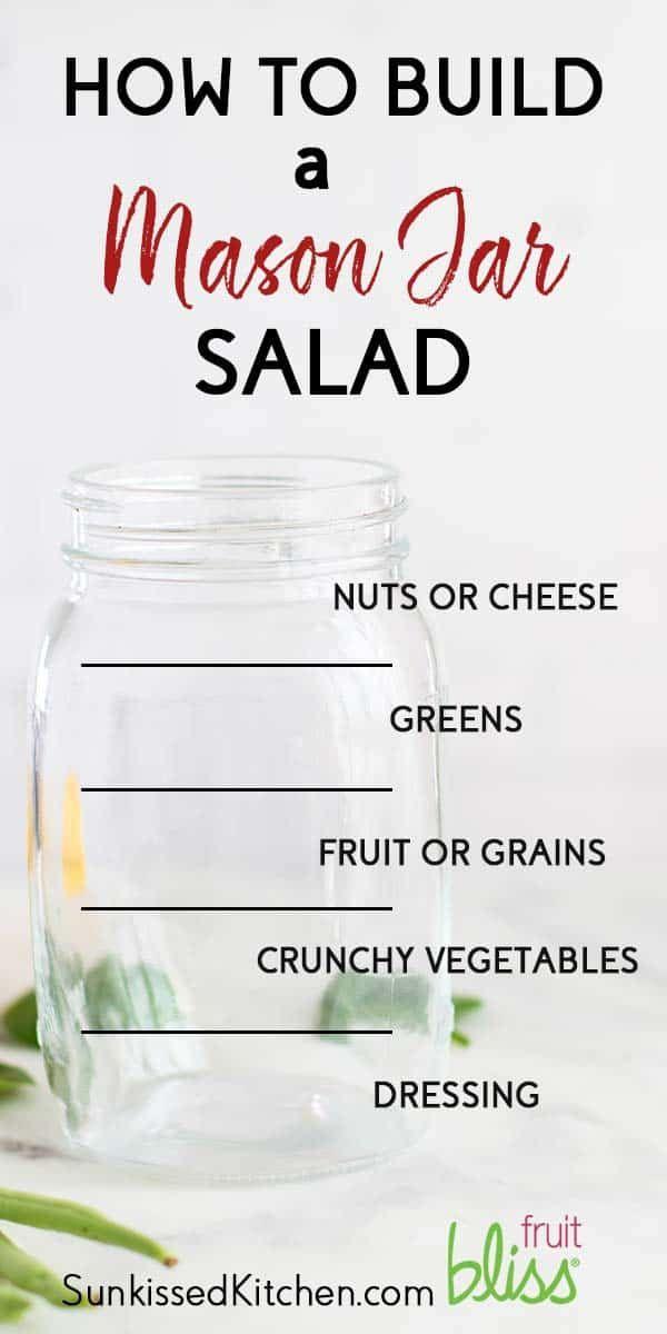 How to Make Mason Jar Salads / 3 Mason Jar Salad Recipes to meal prep! Vegetarian mason jar salads
