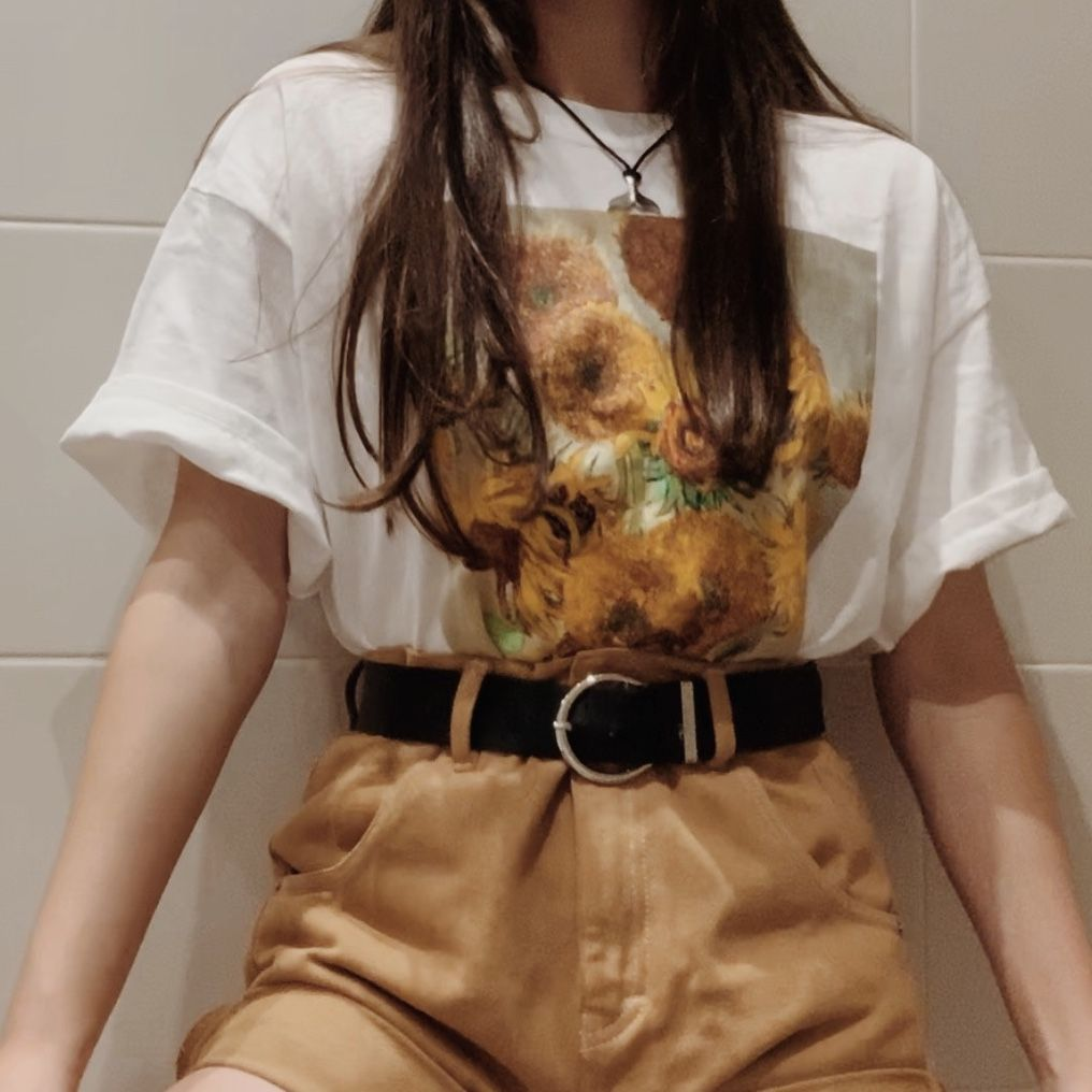Sunflowers Van Gogh inspired outfit