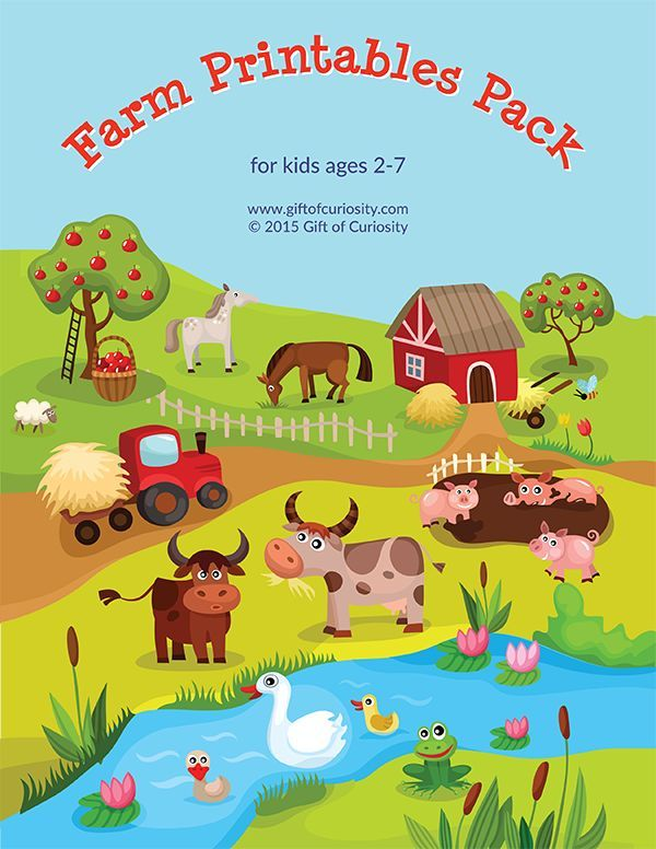 Farm Printables Pack with 75farm animalthemedworksheets and activities for kids ages 2 to 7 This pack is a great way for kids to practice basic skills while a...