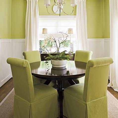 i like the idea of dressing up a small space with just paint curtains dining room decoratingroom