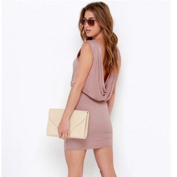 LULU'S Nude Backless Dress Size S This dress is brand new without tags and is in perfect condition! Feel free to ask for bundles and make offers! Lulu's Dresses Backless