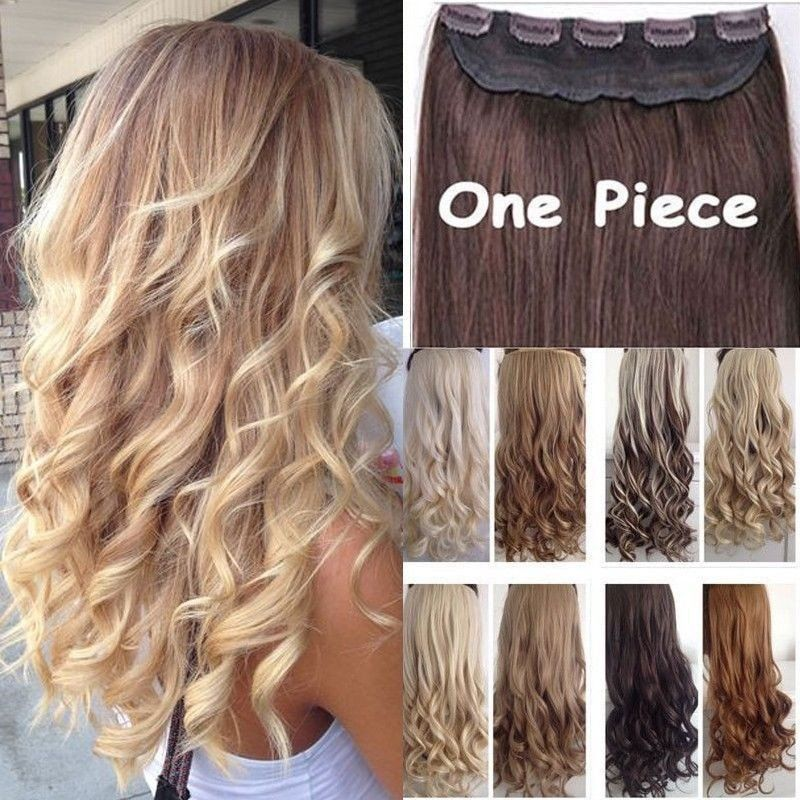 Hair Extensions 100 Real Natural Curlystraight Long Clip In Hair
