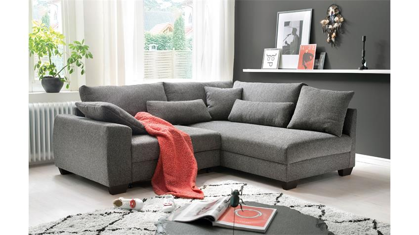 Ecksofa Fortuna Federkern Stoff Charcoal Bettfunktion In 2020 Ecksofa Sofa Haus Deko