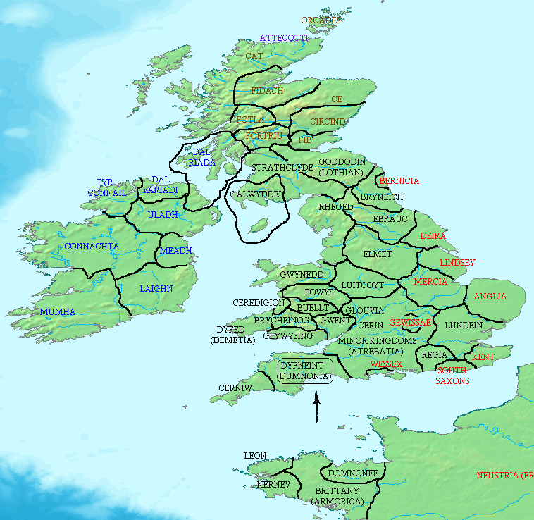 Map Of Old England Wessex.Early Saints Of The Ancient Kingdom Of Dumnonia Map Anglo Saxon