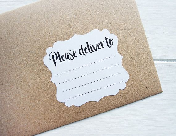 Please Deliver To Labels Blank Recipient Address Stickers Penpal - mailing label designs