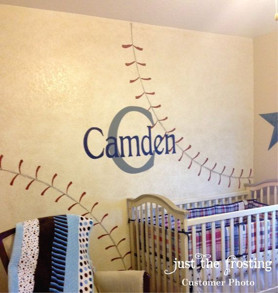 Baseball Boy S Name Decal By Justthefrosting Decorative